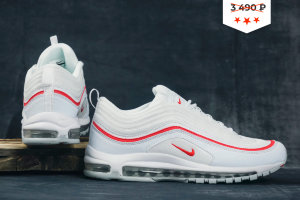 Кроссовки Nike Air Max 97 white/red