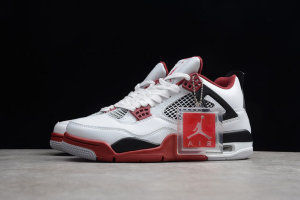 "Nike Air Jordan 4 Retro ""Fire Red"" White/Varsity Red-Black"