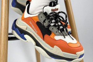 Кроссовки Balenciaga Triple S Orange\Blue