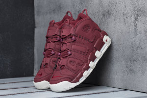 Кроссовки Nike Air More Uptempo burgundy