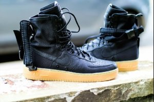 NIKE SF AIR FORCE ONE HIGH Black/Black 1