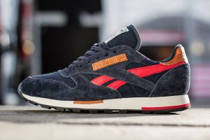 Кроссовки Reebok-CL Leather Utility Navy/ Red